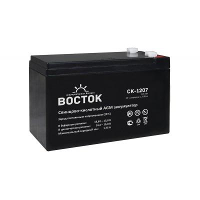 AGM аккумулятор ВОСТОК СК-1207