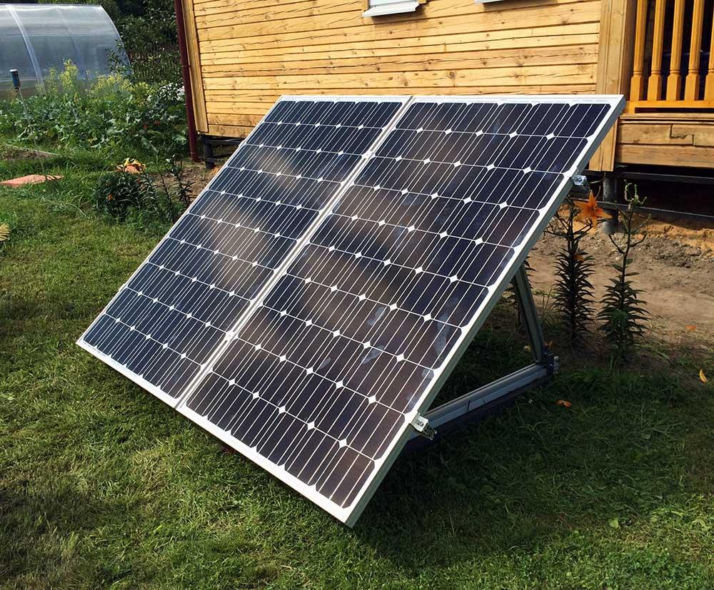 Наземное размещение солнечных батарей