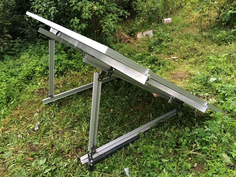 Наклонный крепеж для солнечных батарей